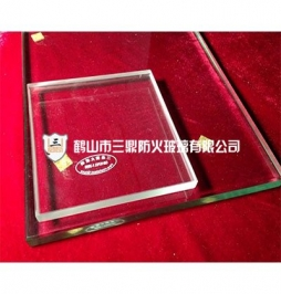 Single cesium potassium fireproof glass