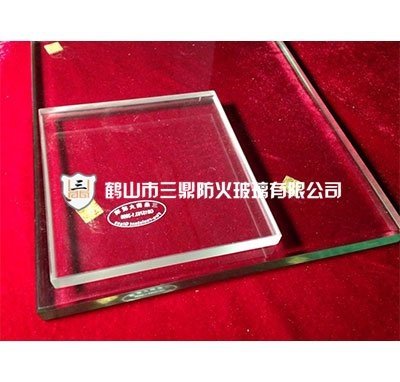 Single cesium potassium fireproof glass